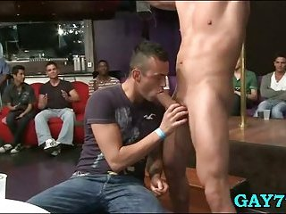 Sucking gay party at the club