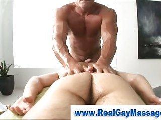 Masseuse Uses Fleshlight On Straight Guy