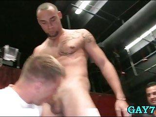 Stripper fucks many throats