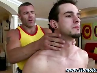 Straight guy gets naked for massage