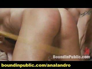 Public Bondage Gangbang and Humiliation