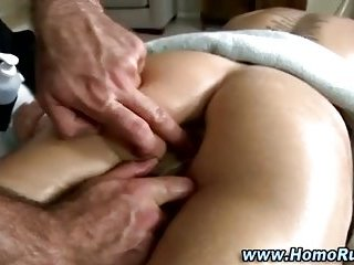 Gay straight anal toy massage