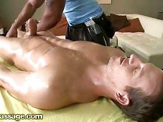 Naked Man Gets Cock Massage
