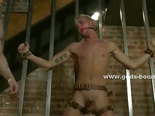 Strong large gay hunks fuck slaves