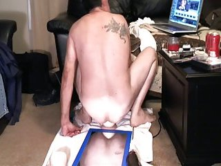 Filthy Gay Guy Dildoing His Ass