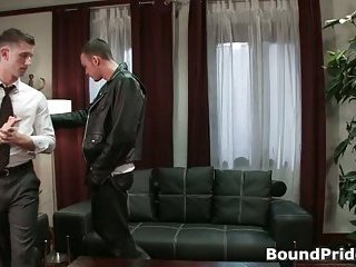 Cliff and Troy in horny extreme gay bondage fetish movie
