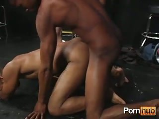 Hot Gay Guys In Interracial Threesome