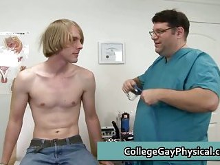 Corey gets his penis and tight anus examined by doctor