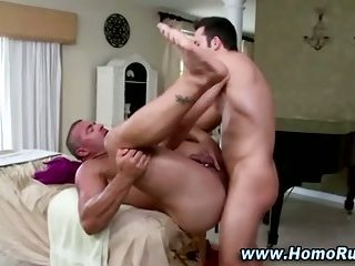 Amateur straight guy fucks gay hunks ass after massage