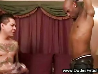 Black guy forced to smell white guys underwear