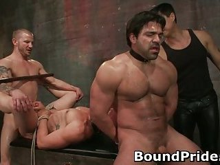 Brenn and Chad in extreme gay bondage and torture 44