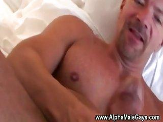 Masculine mature gays use a vacuum pump