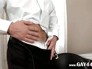 Huge Dick Jerking Off At Office
