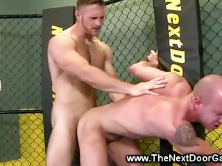 Ultimate ass fucking for horny fighters couple of gays