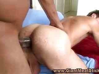 Gay big black cock interracial ass fuck
