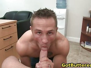 Cute muscled gay guy sucking cock like pro gay sex