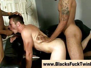 Interracial Muscular Bait Fucks Best Friend
