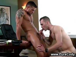 Sexy guys sucking cock for each other