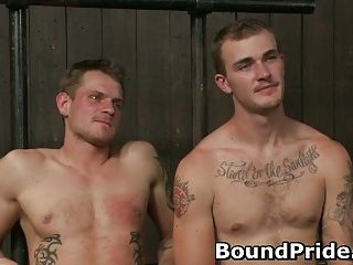 Super hot gay guys in extreme gay bondage