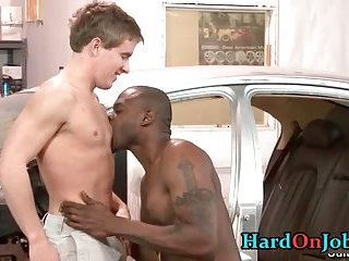 Gay fucking and cock sucking at the office 9