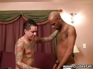 Master dominates over his ebony subject