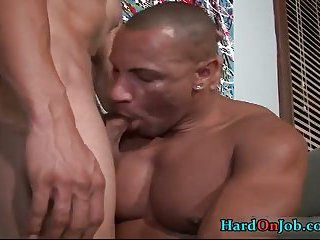 Gianni and Jay have steamy gay sex at work