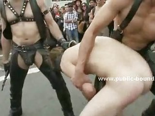 Gay boy gets fucked roughly in his mouth