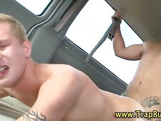 Straight guy convinced to fuck gay ass for money