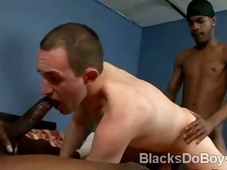 White skinned Ricky Raw gets into a wild gay threesome