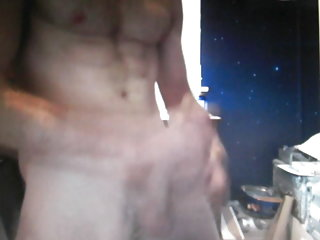 Hot ginger dude shows his big cock on cam