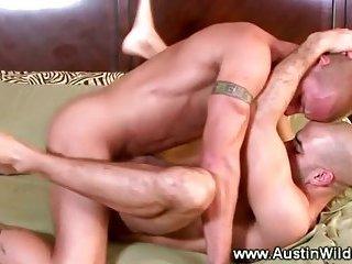Sexy studs take turns ramming tight ass