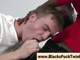 Interracial amateur cocks get sucked