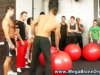 Watch this exercise class turn naughty