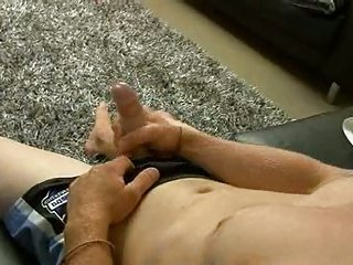 Alex plays with rubber pussy