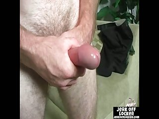 Mature dude likes to play with his cock