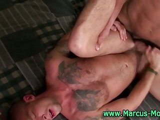 Hardcore muscle gay ass action from a pair of pornstars