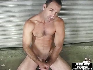 Hot mature guy shows his ass