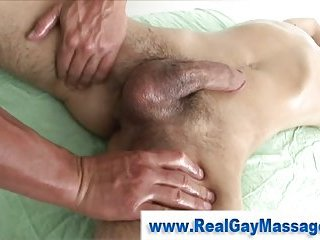 Gay straight massage handjob