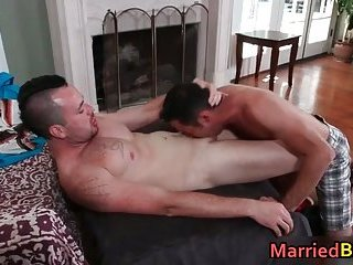 Hot married straight stud getting sucked