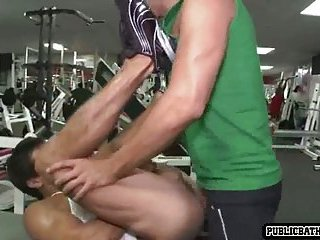 Guys go crazy in the gym and fuck there