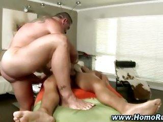 Straight guy gay masseuse fuck blowjob action