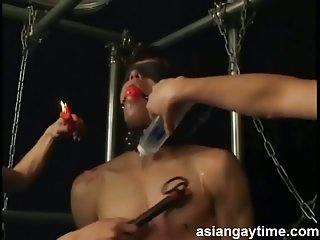 Skinny japanese guy loves bdsm