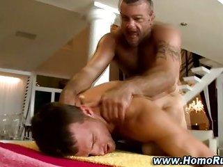 Gay bear fucks straight guy in the ass