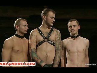 Master Subs 2 Boys in Suspension Bondage