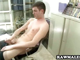 Amateur hunk plays with himself and sucks a cock