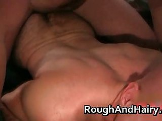Hairy gay bear Bryan Knight & Snake Stone