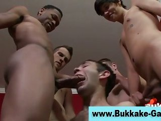 Group interracial blowjob orgy
