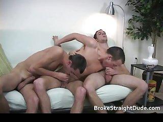 Super hot straight but broke dudes having gay sex