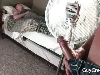 Sleeping dude gets his cute ass fucked