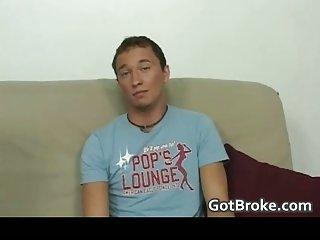 Broke straight boys Alex & Cole having gay sex